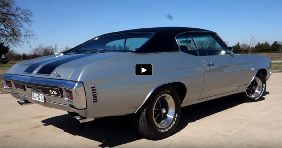 silver 1970 chevy chevelle ss 454