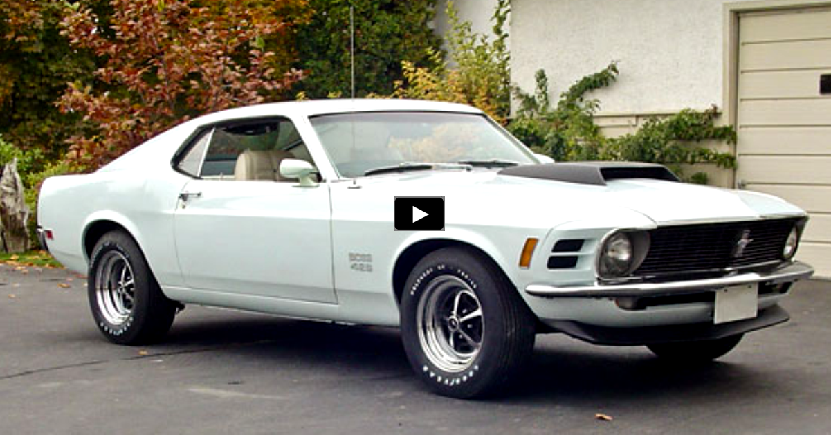 original 1970 ford mustang boss 429 in pastel blue