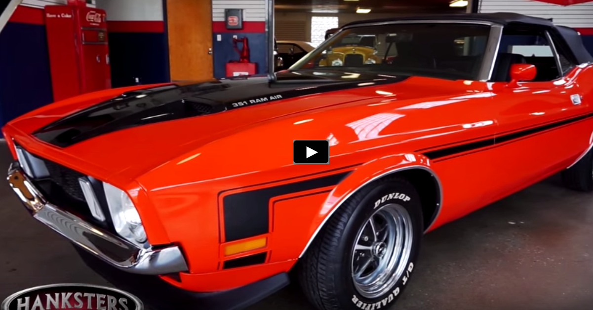 1972 ford mustang convertible in orange