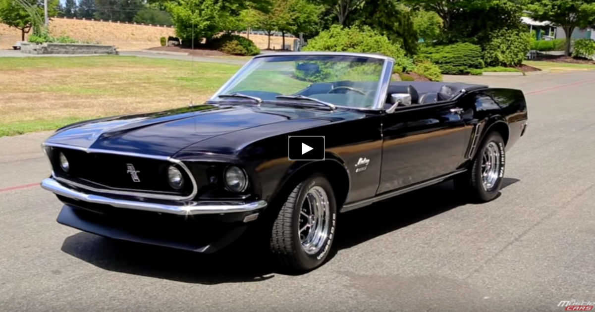 triple black 1969 ford mustang 351 convertible