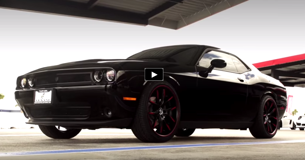modified dodge challenger on lexani wheels