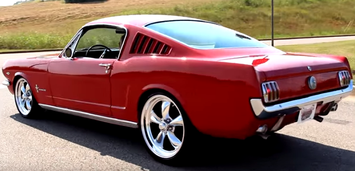 red 1966 ford mustang 289 resto-mod