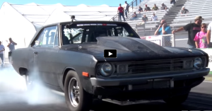 twin turbocharged dodge dart swinger at drag week