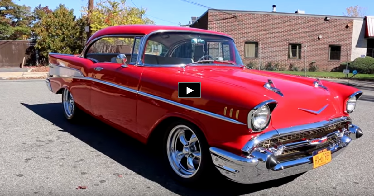 big block 1957 chevy belair restomod