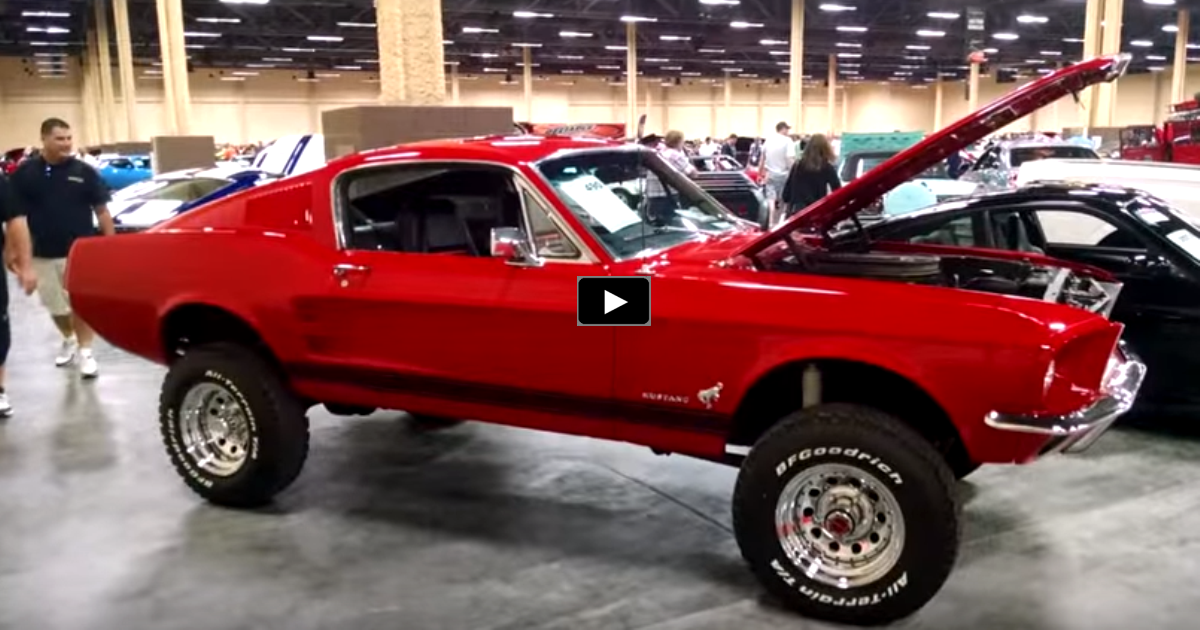 1967 mustang fastback 4wd bronco chassis