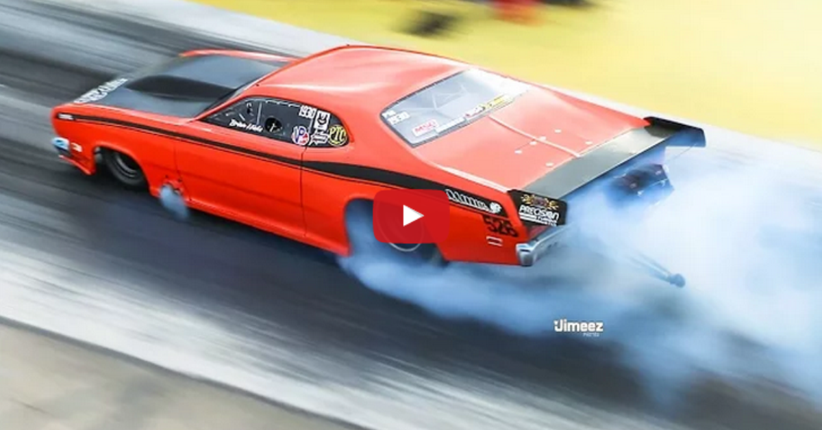 twin turbo 1970 plymouth hemi duster at byron dragway