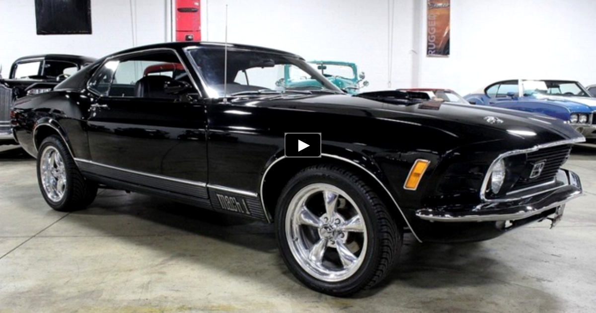 black 1970 mustang mach 1 restomod