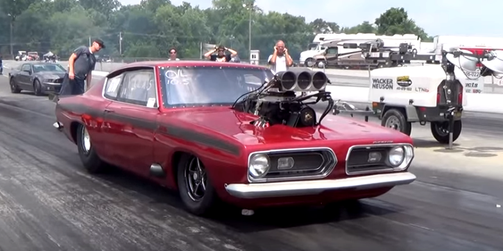 blown plymouth hemi barracuda drag racing
