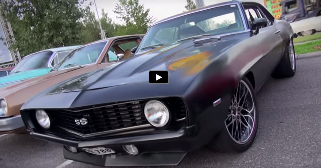 Outrageous Matte Black 1969 Chevy Camaro Ss Hot Cars