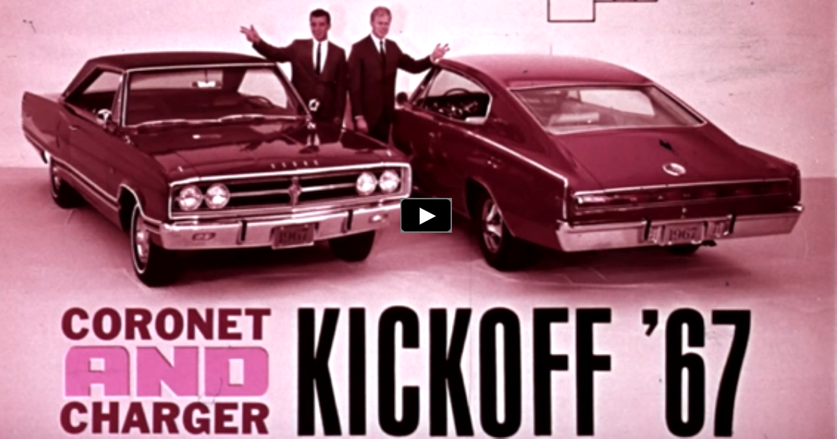 original 1967 dodge charger & coronet promo film