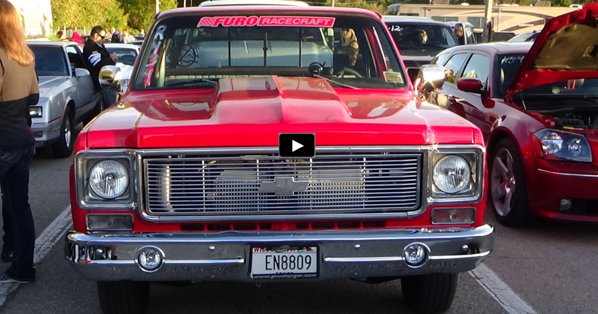 procharged 1978 chevy c10 truck drag racing