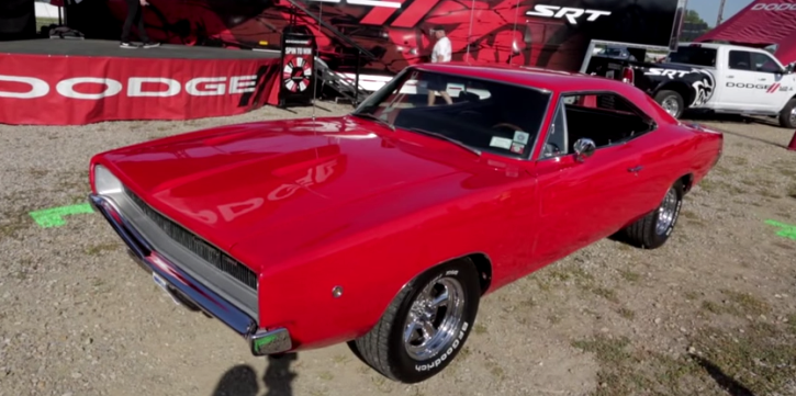 red 1968 dodge charger restoration