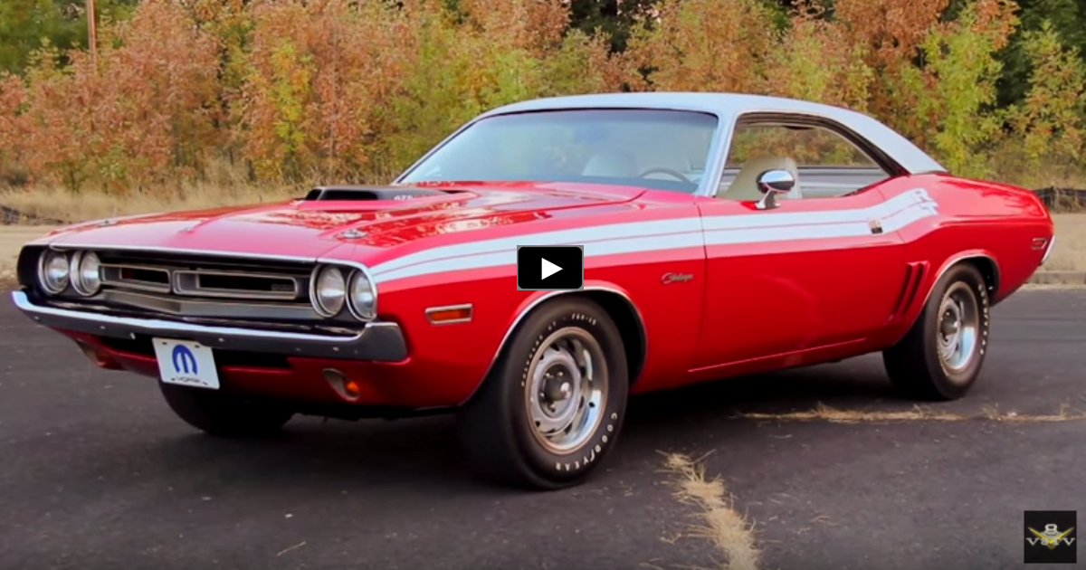 bright red 1971 dodge challenger r/t 426 hemi