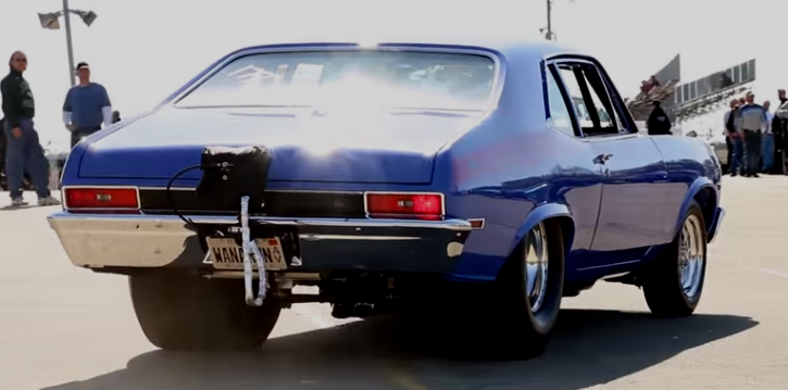 street legal procharged chevy nova drag racing