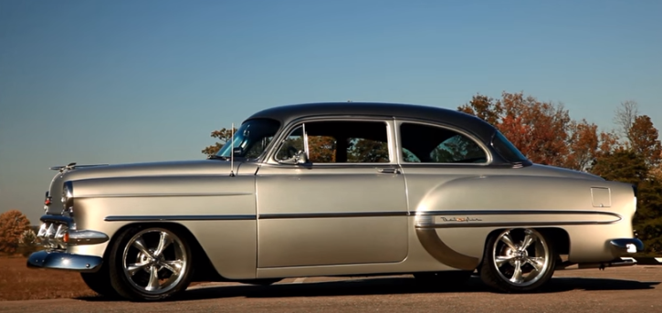 custom 1954 chevrolet bel air