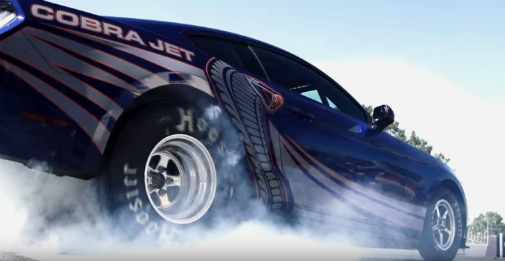 2016 cobra jet at the drag strip