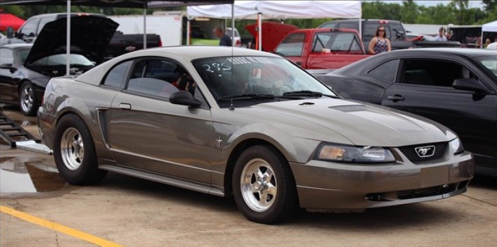 2jz powered mustang drag racing