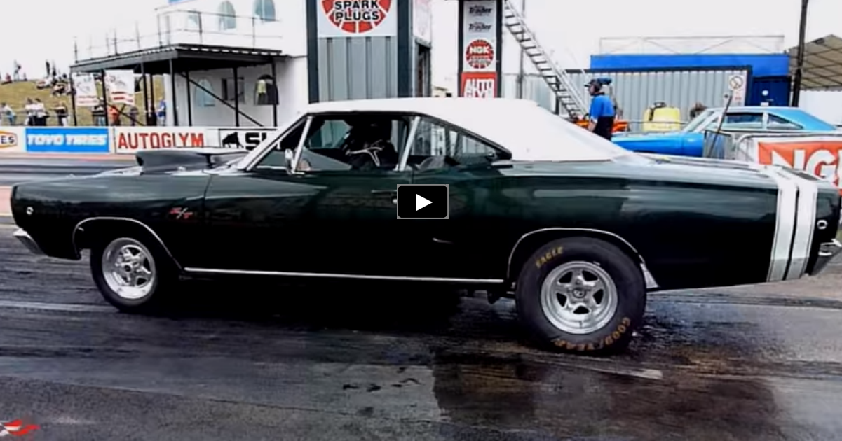 1968 dodge coronet r/t drag racing