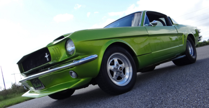 pro street 1965 ford mustang on nitrous