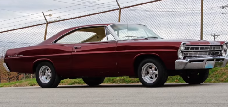 1967 ford galaxy in red pearl