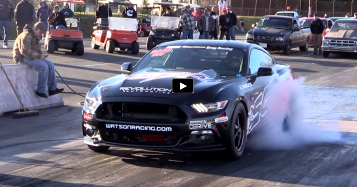 fastest ecoboost mustang drag racing