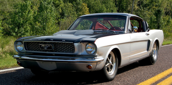 pro street 1966 ford mustang