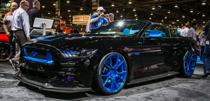 convertible widebody 2015 mustangs sema
