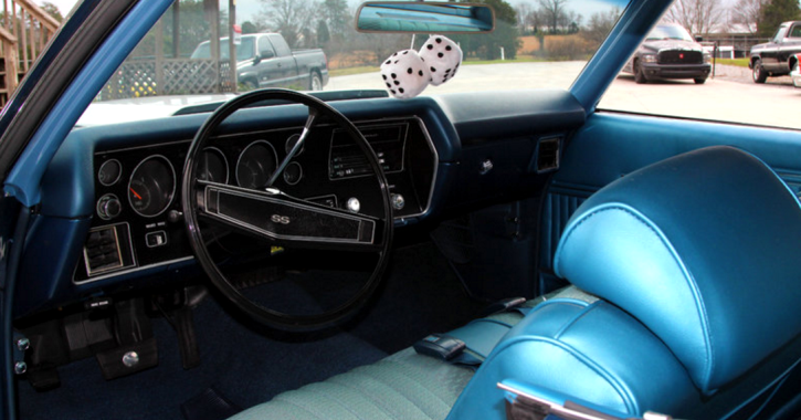 clean 1970 chevrolet chevelle ss in fathom blue hot cars. Black Bedroom Furniture Sets. Home Design Ideas