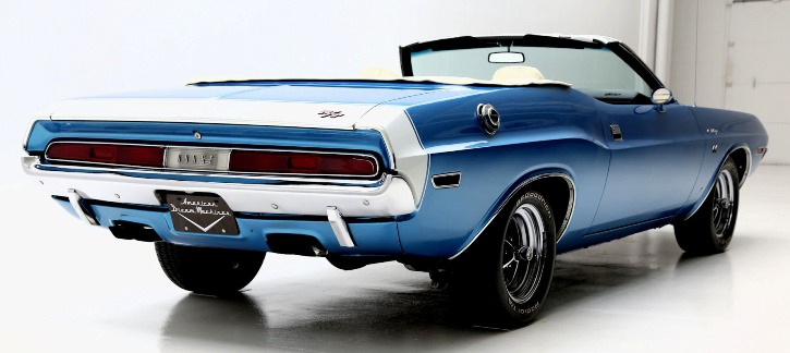 Bright Blue 1970 Dodge Challenger R T Convertible Hot Cars