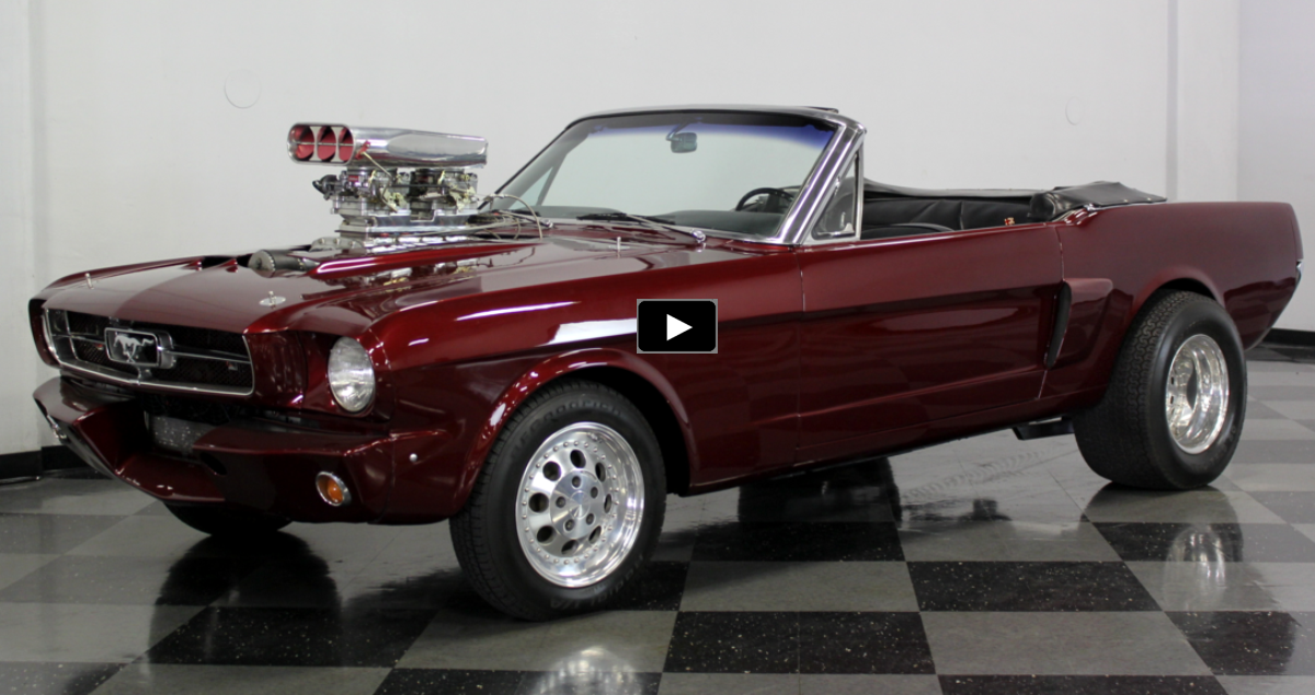 supercharged 1965 mustang 302 convertible