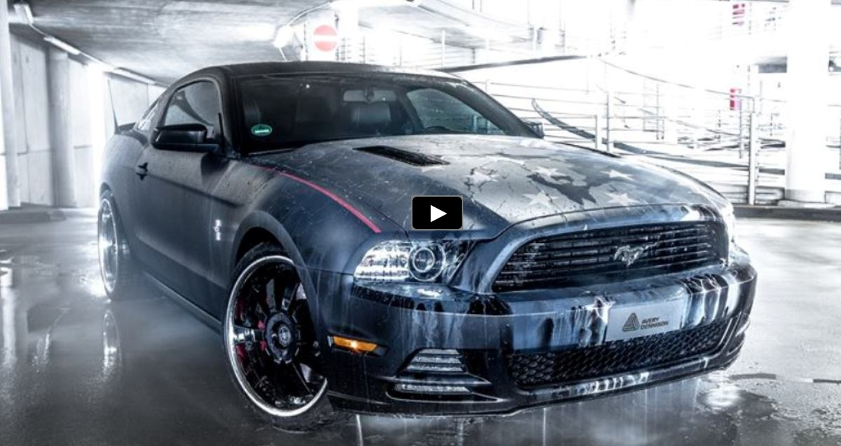 color changing ford mustang rene turrek