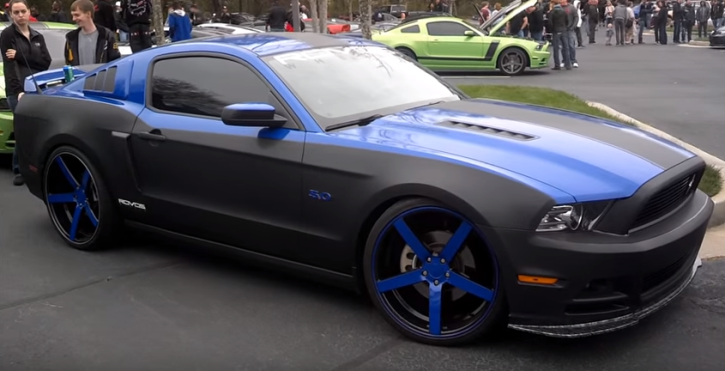 carbon fiber wrapped ford mustang 5.0