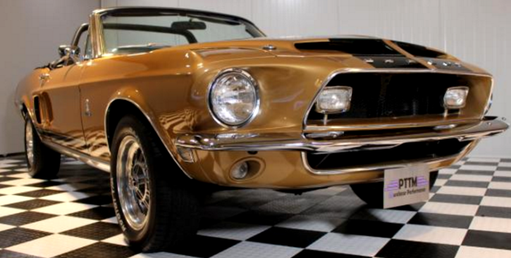 68 Shelby Gt500 >> ORIGINAL 1968 SHELBY GT500 CONVERTIBLE IN GOLD | HOT CARS