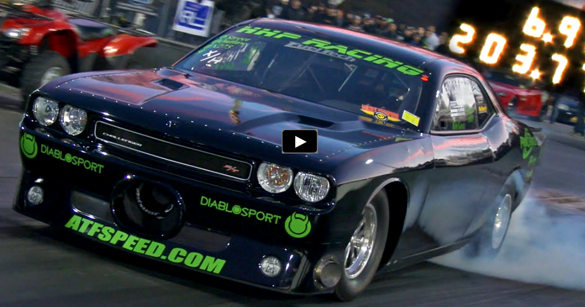 rob goss procharged challenger drag racing