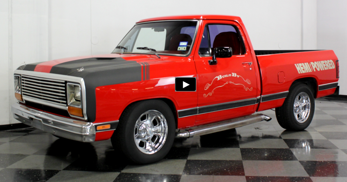 customized 1984 dodge ram truck
