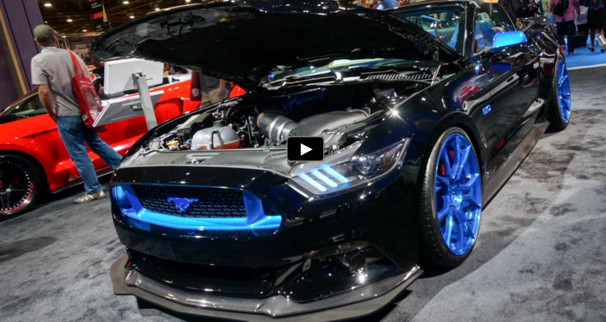 custom widebody 2015 mustangs sema 2015