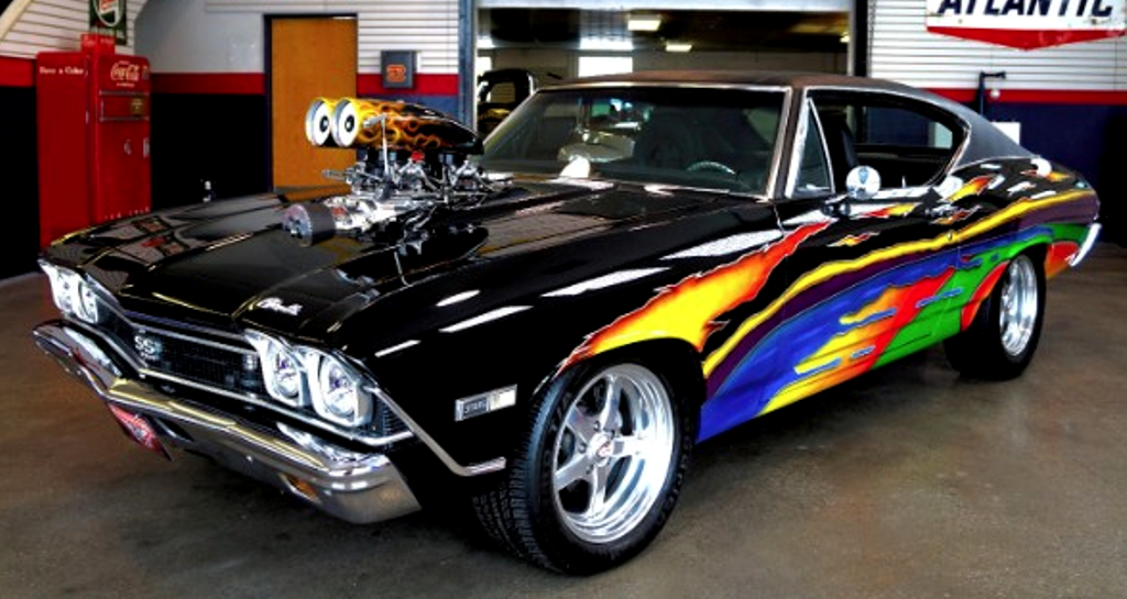 MEAN BLOWN 1968 CHEVY CHEVELLE 454 BIG BLOCK | HOT CARS