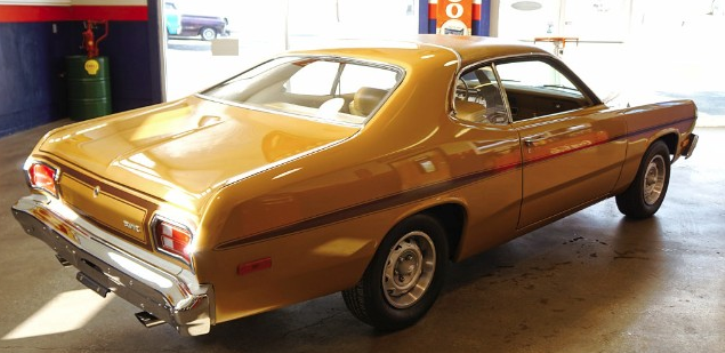 restored 1974 plymouth gold duster