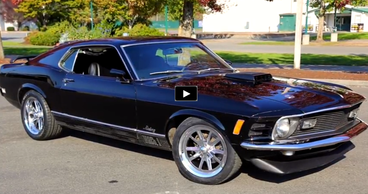restored 1970 mustang mach 1 in black