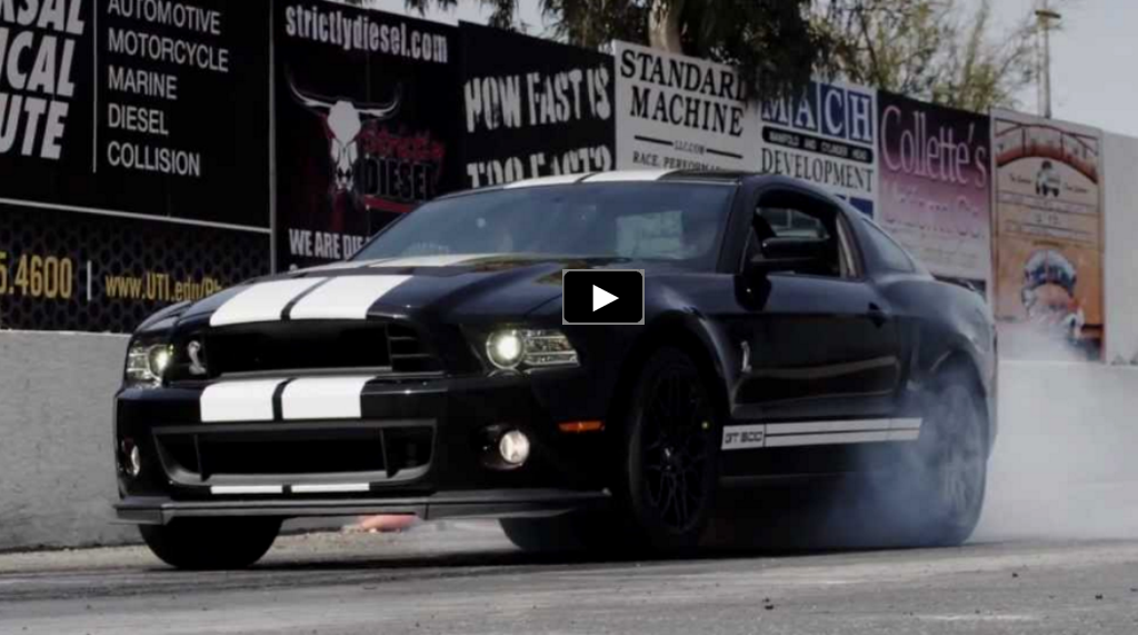 mustang shelby gt500 drag racing