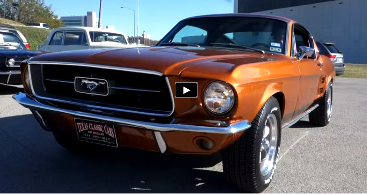 1967 ford mustang ride along video