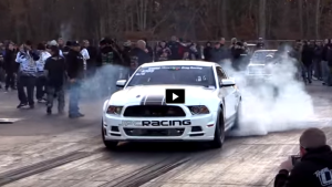 turbocharged mustang boss 302 drag racing