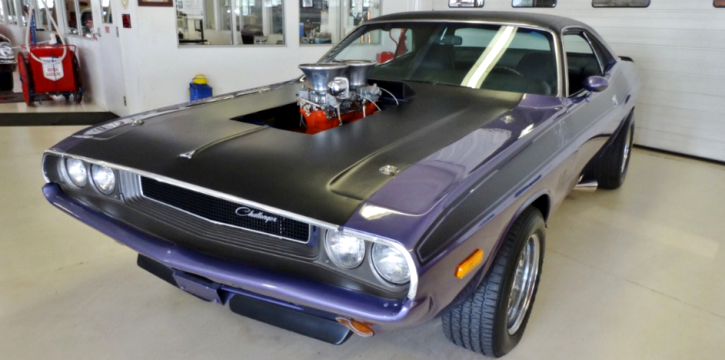 plum crazy purple 1970 dodge challenger