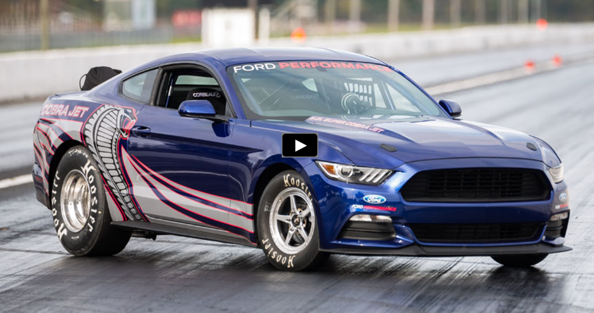 2016 cobra jet mustang drag car