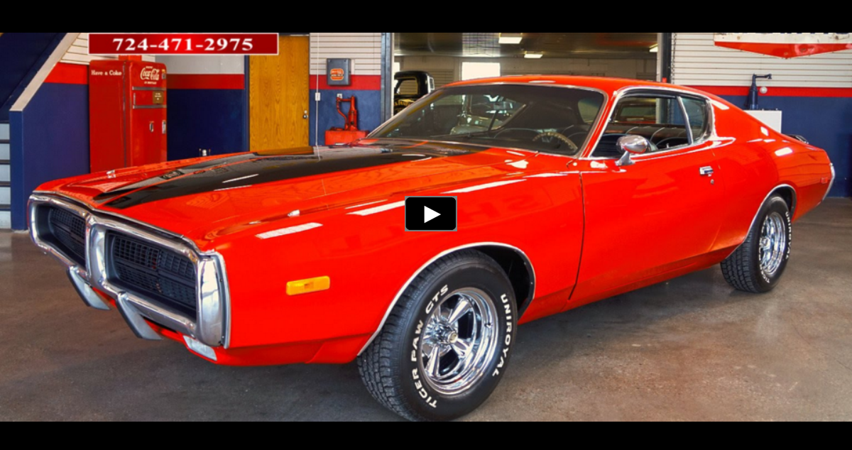 bright red 1972 dodge charger on hot cars