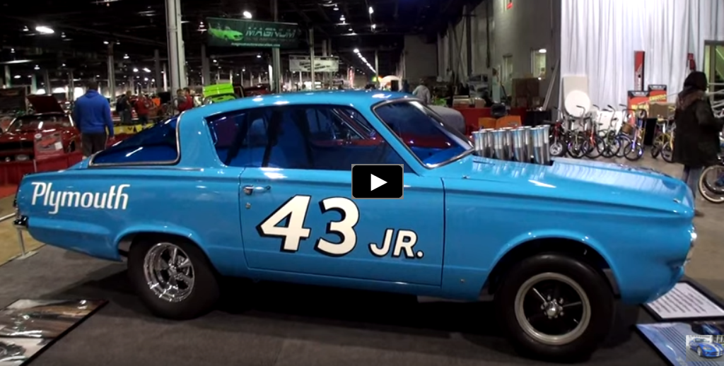 richard petty 1965 plymouth barracuda drag car