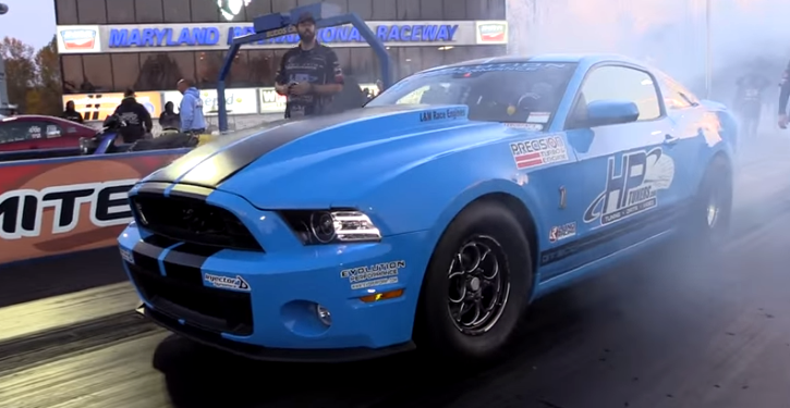 turbocharged mustang shelby gt500 drag racing
