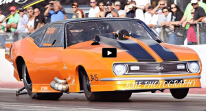 twin turbocharged promod camaro drag racing