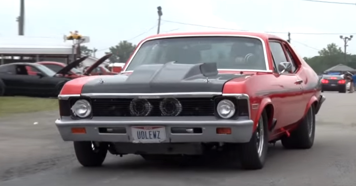 twin turbocharged chevy nova street car takeover