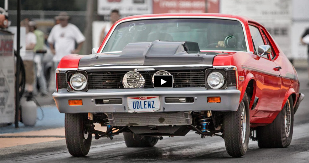 twin turbocharged chevy nova drag racing